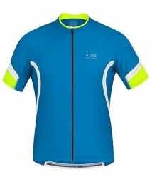 Gore bike wear maillot power 2 0 bleu jaune fluo s