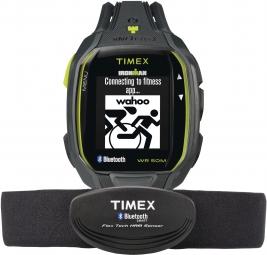 timex montre ironman run x50 hrm gris vert