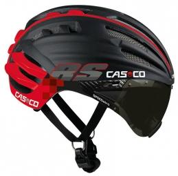 casco casque speedairo rs avec visiere vautron noir mat rouge l 59 63 cm