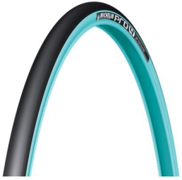 pneu michelin pro4 service course 700x23c bleu turquoise tringle souple