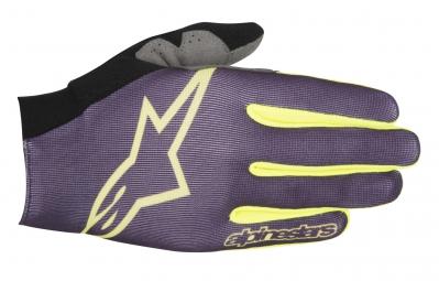 Alpinestars paire de gants aero violet jaune s