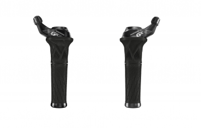 Sram GX 2x11sp Grip Shift Shifter Set - Black