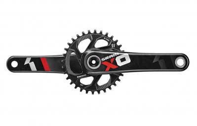 SRAM X01 GXP (Not Included) 11 Speed Crankset + 32t Chainring Red