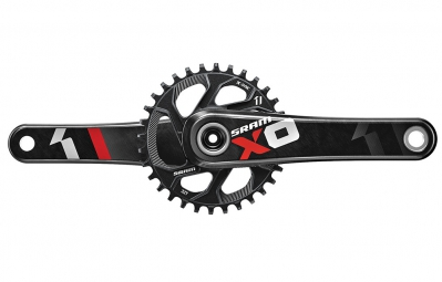 sram pedalier x01 directmount 32 dents 11v bb30 non inclus rouge 175