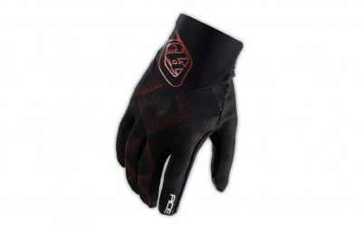 TROY LEE DESIGNS Paire de Gants Longs ACE Noir Rouge