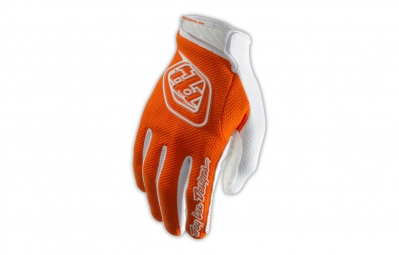 troy lee designs gants enfant gp air orange blanc kid l
