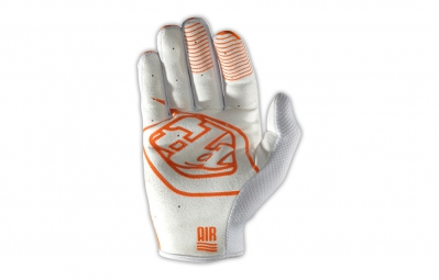 troy lee designs gants enfant gp air orange blanc kid xs