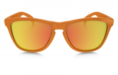 Lunettes Oakley FROGSKINS FINGERPRINT Orange Jaune