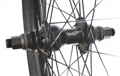 ROCK BMX Roue Arriere LOADED LHD + Pneu DUO SVS 2.25 Noir