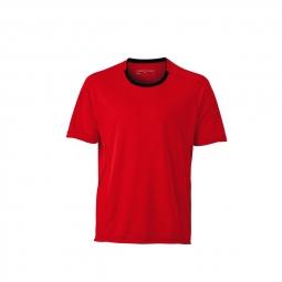 James et nicholson t shirt respirant running jogging jn472 rouge tomate homme course