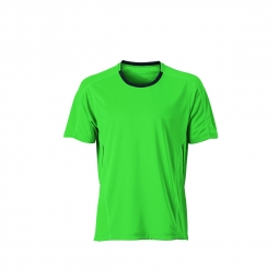 James et nicholson t shirt respirant running jogging jn472 vert homme course a pied s
