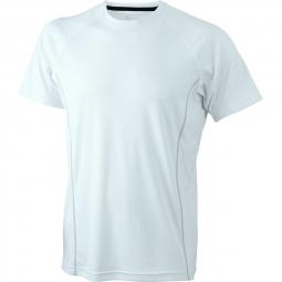 James et nicholson t shirt respirant running jn421 blanc blanc homme course a pied a