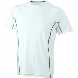 James et nicholson t shirt respirant running jn421 blanc black homme course a pied a