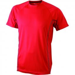 James et nicholson t shirt respirant running jn421 rouge homme course a pied anti ba