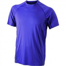 James et nicholson t shirt respirant running jn421 violet homme course a pied anti b