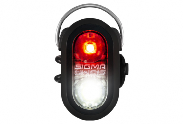 Luz delantera o trasera Sigma Micro Duo negra