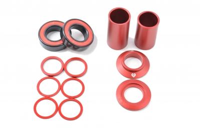 eclat boitier de pedalier mid bb rouge 22 mm