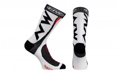 northwave paire de chaussettes extreme tech plus blanc 36 39