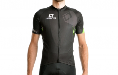 ISANO Maillot Manches Courtes IS 8.0 Noir Vert