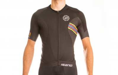 ISANO Maillot Manches Courtes IS 1.0 Noir Rainbow