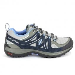 Chaussure de marcherando trail salomon ellipse 2 aero gris bleu 42