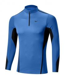 mizuno maillot manches longues virtual body fusion 1 2 zip bleu xl