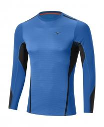 mizuno maillot manches longues virtual body fusion crew bleu xl