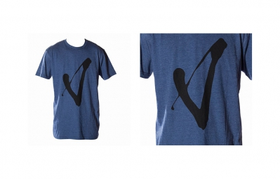 VOLUME T-Shirt V Bleu