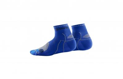 skins paire de chaussettes performance quarter bleu s