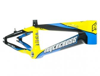 Cadre bmx supercross envy blk carbon pro yellow cyan pro