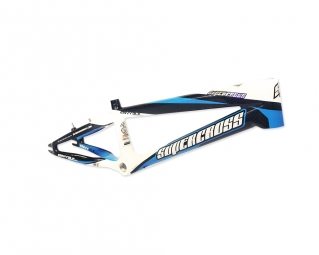 Cadre bmx supercross envy blk carbon white blue pro plus