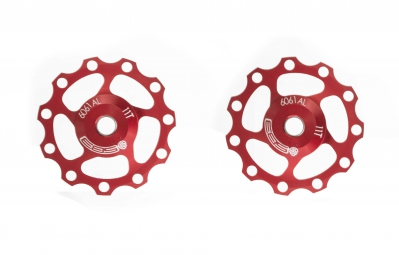SB3 11 Speed Jockey Wheels - 11t Red