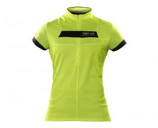 troy lee designs maillot manches courtes femme ace jaune m