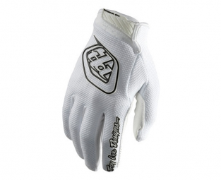 troy lee designs paire de gants longs gp air blanc m