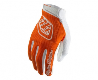 troy lee designs paire de gants longs air orange m