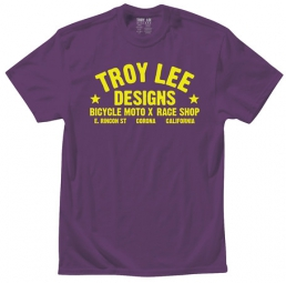 troy lee designs t shirt enfant raceshop violet kid l