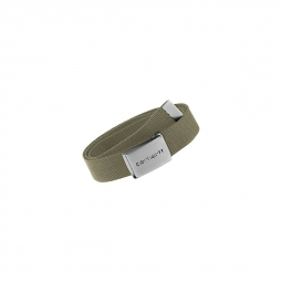 Ceinture Carhartt Clip Belt Chrome Leather