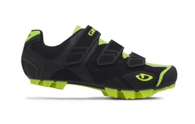 Chaussures VTT GIRO CARBIDE Noir Jaune Fluo