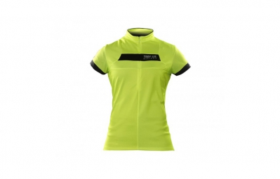 troy lee designs maillot manches courtes femme ace jaune m