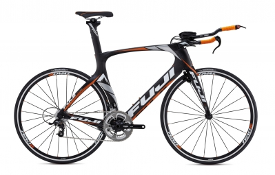 FUJI Kit Cadre triathlon/clm NORCOM STRAIGHT 2.3 Noir Orange