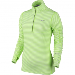 nike maillot dri fit element stripe vert femme l