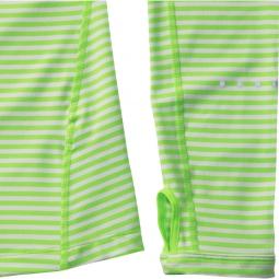 nike maillot dri fit element stripe vert femme l