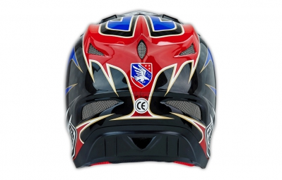 Casque intégral Troy Lee Designs D3 GWIN CF Composite Rouge