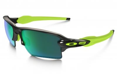 oakley lunettes polarized flak 2 0 xl black ink jade iridium polarized ref oo9188 09