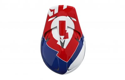casque integral 661 sixsixone rage bleu blanc rouge l 58 60 cm