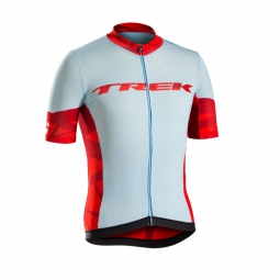 Bontrager maillot manches courtes ballista powder blue red trek m