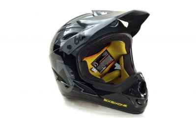 casque integral 661 sixsixone comp noir gris xl 60 62 cm