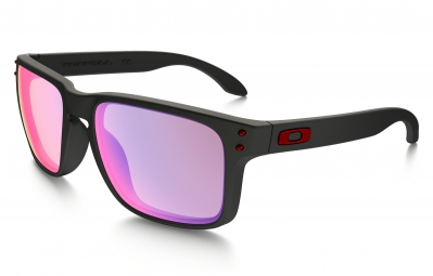 Gafas Oakley HOLBROOK black red Iridium / Miroir