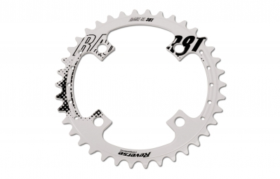 REVERSE Plateau Race SL 4 Trous 104mm Blanc