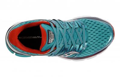 SAUCONY Chaussures Triumph ISO Bleu Rouge Femme